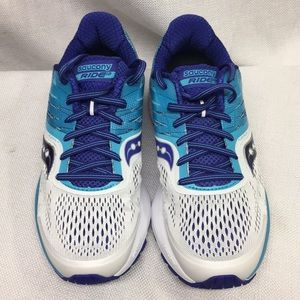 Saucony Everun Ride 10 Teal & Purple Running Shoe7